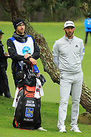 Dustin Johnson (USA) in action at Spyglass Hill Golf Course during the second round of the AT&amp;T Pro-Am, Pebble Beach Golf Links, Monterey, USA. 08/02/2019<br /> Picture: Golffile | Phil Inglis<br /> <br /> <br /> All photo usage must carry mandatory copyright credit (&copy; Golffile | Phil Inglis)