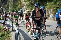 Vasil Kiryienka (BLR/SKY)  up the Foza climb (1086m)<br /> <br /> Stage 20: Pordenone › Asiago (190km)<br /> 100th Giro d'Italia 2017