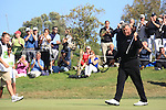 Darren Clarke (NIR) putting out to win by three shots.on the final day of the Iberdrola Open from Pula Golf Club ,Son Servera, Mallorca, Spain 14/5/11.Picture Fran Caffrey/www.golffile.ie