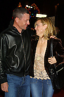 """©2004 KATHY HUTCHINS / HUTCHINS PHOTO.""""ALONG CAME POLLY"""" PREMIERE.HOLLYWOOD, CA.JANUARY 12, 2004..LANCE ARMSTRONG.SHERYL CROW"""