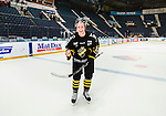 Stockholm 2014-10-14 Ishockey Hockeyallsvenskan AIK - Malm&ouml; Redhawks :  <br /> AIK:s Marcus Jonsson jublar efter matchen och segern &ouml;ver Malm&ouml; Redhawks <br /> (Foto: Kenta J&ouml;nsson) Nyckelord:  AIK Gnaget Hockeyallsvenskan Allsvenskan Hovet Johanneshov Isstadion Malm&ouml; Redhawks jubel gl&auml;dje lycka glad happy