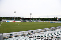 Cary, North Carolina  - Wednesday May 24, 2017: View from the southeast corner of Sahlen's Stadium prior to a regular season National Women's Soccer League (NWSL) match between the North Carolina Courage and the Sky Blue FC at Sahlen's Stadium at WakeMed Soccer Park. The Courage won the game 2-0.