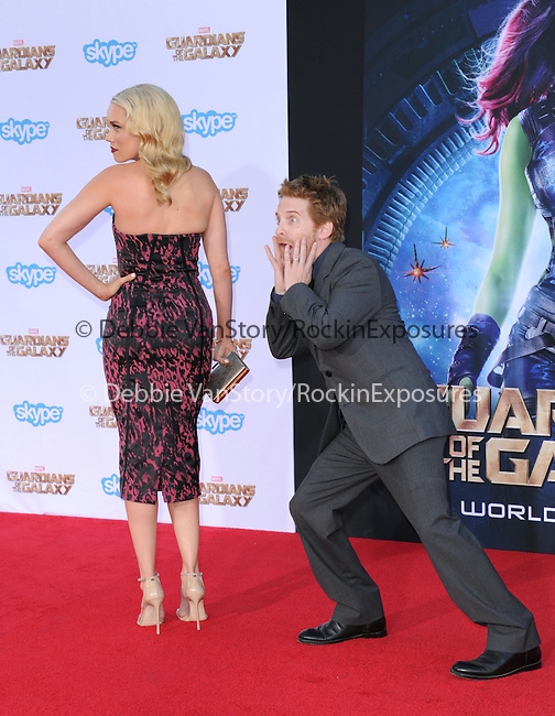 Seth Green and Clare Grant<br /> <br /> <br />  attends The Marvel Studios World Premiere GUARDIANS OF THE GALAXY held at The Dolby Theatre in Hollywood, California on July 21,2014                                                                               © 2014Hollywood Press Agency