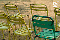 Empty seats, outdoors, France (Licence this image exclusively with Getty: http://www.gettyimages.com/detail/82064706 )