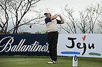JEJU, SOUTH KOREA - APRIL 21:  Ernie Els of South Africa plays a tee shot during the pro - am of the Ballantine's Championship at Pinx Golf Club on April 21, 2010 in Jeju island, South Korea.  Photo by Victor Fraile / The Power of Sport Images