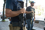 Don't Comply Texas, a group supporting the open carrying of firearms, came to Bastrop to film Jade Helm parody videos. Some members carry black powder pistols and others carry long rifles.