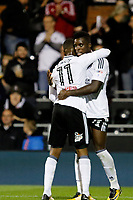 GOAL - Floyd Ayité of Fulham makes it 1-0 during the Sky Bet Championship match between Fulham and Hull City at Craven Cottage, London, England on 13 September 2017. Photo by Carlton Myrie.