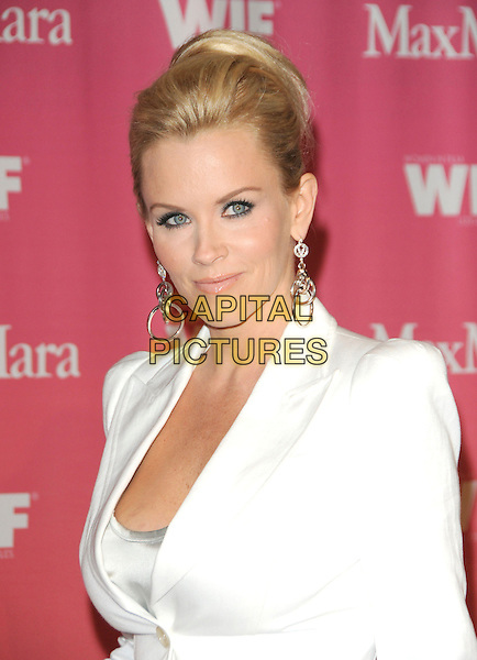 JENNY McCARTHY .at The Women in Film 2009 Crystal .and Lucy Awards held at The Hyatt Regency Century Plaza in Century City, California, USA, June 12th 2009                                                                     .portrait headshot hair up silver dangly earrings  suit jacket shoulder pads blazer .CAP/DVS.©Debbie VanStory/RockinExposures/Capital Pictures