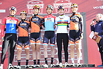 Boels Dolmans Cyclingteam at sign on before the Strade Bianche Women Elite 2019 running 133km from Siena to Siena, held over the white gravel roads of Tuscany, Italy. 9th March 2019.<br /> Picture: Eoin Clarke | Cyclefile<br /> <br /> <br /> All photos usage must carry mandatory copyright credit (© Cyclefile | Eoin Clarke)