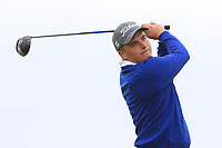 James Sugrue (Mallow) on the 1st tee during Round 1of the Flogas Irish Amateur Open Championship 2019 at the Co.Sligo Golf Club, Rosses Point, Sligo, Ireland. 16/05/19<br /> <br /> Picture: Thos Caffrey / Golffile<br /> <br /> All photos usage must carry mandatory copyright credit (© Golffile | Thos Caffrey)