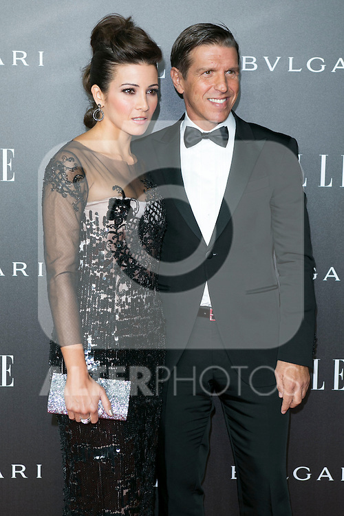 """Manuel Benitez """"El Cordobes"""" and Virginia Troconis attend the Photocall of the ELLE STYLE AWARDS at Italian Embassy in Madrid, Spain. March 17, 2014. (ALTERPHOTOS/Carlos Dafonte)"""