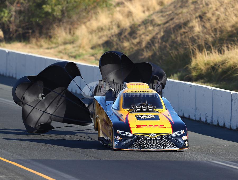 Jul 29, 2017; Sonoma, CA, USA; NHRA funny car driver J.R. Todd during qualifying for the Sonoma Nationals at Sonoma Raceway. Mandatory Credit: Mark J. Rebilas-USA TODAY Sports