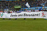 02.12.2018, Schauinsland-Reisen-Arena, Duisburg, GER, 2. FBL, MSV Duisburg vs. Holstein Kiel, DFL regulations prohibit any use of photographs as image sequences and/or quasi-video<br /> <br /> im Bild DFB Initiative &quot;Danke ans Ehrenamt&quot;<br /> <br /> Foto &copy; nordphoto/Mauelshagen