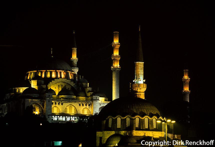 Süleymanye Camii (Moschee) und Rüstem Pascha Camii in Istanbul, erbaut 1550/1557 bzw 1560 von Sinan, Türkei, Unesco-Weltkulturerbe