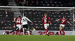 Sam Hoskins of Northampton scores their second from the penalty spot (4-2) during the FA Cup match at the Pride Park Stadium, Derby. Picture date: 4th February 2020. Picture credit should read: Darren Staples/Sportimage