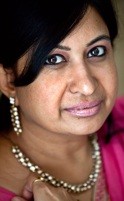02 June 2010, NEW DELHI, INDIA : Nita Jha of Sycorian Matrimonial Services at the company's headquarters in Delhi. She organises the arrangement of high end Indian marriages according to the usual conditions of caste and wealth. Despite the modernism of the company the services offered are in keeping with ancient Hindu practises. pic Graham Crouch/Fairfax