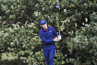 Matt Fitzpatrick (ENG) on the 4th tee during Round 2 of the Sky Sports British Masters at Walton Heath Golf Club in Tadworth, Surrey, England on Friday 12th Oct 2018.<br /> Picture:  Thos Caffrey | Golffile<br /> <br /> All photo usage must carry mandatory copyright credit (&copy; Golffile | Thos Caffrey)