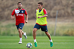 Getafe CF's Francisco Portillo (r) and Dani Pacheco during training session. August 1,2017.(ALTERPHOTOS/Acero)