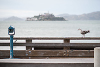 Blick auf die ehemalige Gefaengnisinsel Alcatraz in der Bucht von San Francisco.<br /> 30.5.2017, San Francisco<br /> Copyright: Christian-Ditsch.de<br /> [Inhaltsveraendernde Manipulation des Fotos nur nach ausdruecklicher Genehmigung des Fotografen. Vereinbarungen ueber Abtretung von Persoenlichkeitsrechten/Model Release der abgebildeten Person/Personen liegen nicht vor. NO MODEL RELEASE! Nur fuer Redaktionelle Zwecke. Don't publish without copyright Christian-Ditsch.de, Veroeffentlichung nur mit Fotografennennung, sowie gegen Honorar, MwSt. und Beleg. Konto: I N G - D i B a, IBAN DE58500105175400192269, BIC INGDDEFFXXX, Kontakt: post@christian-ditsch.de<br /> Bei der Bearbeitung der Dateiinformationen darf die Urheberkennzeichnung in den EXIF- und  IPTC-Daten nicht entfernt werden, diese sind in digitalen Medien nach §95c UrhG rechtlich geschuetzt. Der Urhebervermerk wird gemaess §13 UrhG verlangt.]