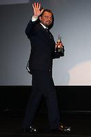 SANTA BARBARA, CA - FEBRUARY 06: Leonardo DiCaprio at the 29th Santa Barbara International Film Festival - Honoring Martin Scorsese And Leonardo DiCaprio With The Cinema Vanguard Award held at Arlington Theatre on February 6, 2014 in Santa Barbara, California. (Photo by Xavier Collin/Celebrity Monitor)