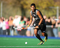 NZ's Arun Panchia during the international hockey match between the New Zealand Black Sticks and Malaysia at Fitzherbert Park, Palmerston North, New Zealand on Sunday, 9 August 2009. Photo: Dave Lintott / lintottphoto.co.nz