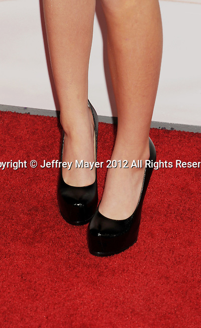 HOLLYWOOD, CA - DECEMBER 12: Ava Sambora (shoe detail) at the 'This Is 40' - Los Angeles Premiere at Grauman's Chinese Theatre on December 12, 2012 in Hollywood, California.