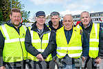 Wheel Talk<br /> ---------------<br /> Killarney Valley&amp;Vintage club members helping organise the service area at Leibherr factory car park, Killarney last Sunday during the Rally of the Lakes, L-R Tom Leslie, John Coffey, John Courtney, Liam Wharton and Michael Ryan.