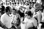 COCEI (Coalition of Workers, Students and Peasants of the Istmus of Tehuantepec) leader Leopoldo de Gyves protests before electoral authorities during municipality elections in Juchitan, Oaxaca, November 20, 1983.  © Photo by Heriberto Rodriguez