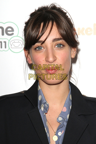 Laura Jackson.Preview screening of Nickelodeon's 'House of Anubis' Season Two at Freemasons Hall, Covent Garden, London, England..March 11th 2012.headshot portrait blue white black.CAP/JIL.©Jill Mayhew/Capital Pictures