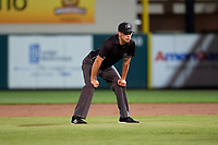 Umpire Jude Koury during a Florida State League game between the Tampa Tarpons and Lakeland Flying Tigers on April 5, 2019 at Publix Field at Joker Marchant Stadium in Lakeland, Florida.  Lakeland defeated Tampa 5-3.  (Mike Janes/Four Seam Images)
