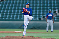 AZL Cubs 1 relief pitcher Chi-Feng Lee (39) delivers a pitch during an Arizona League playoff game against the AZL Rangers at Sloan Park on August 29, 2018 in Mesa, Arizona. The AZL Cubs 1 defeated the AZL Rangers 8-7. (Zachary Lucy/Four Seam Images)