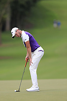 Danny Willett (ENG) takes his putt on the 12th green during Friday's Round 2 of the 2017 PGA Championship held at Quail Hollow Golf Club, Charlotte, North Carolina, USA. 11th August 2017.<br /> Picture: Eoin Clarke | Golffile<br /> <br /> <br /> All photos usage must carry mandatory copyright credit (&copy; Golffile | Eoin Clarke)