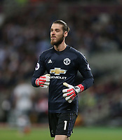 Manchester United's David De Gea<br /> <br /> Photographer Rob Newell/CameraSport<br /> <br /> The Premier League - West Ham United v Manchester United - Thursday 10th May 2018 - London Stadium - London<br /> <br /> World Copyright &copy; 2018 CameraSport. All rights reserved. 43 Linden Ave. Countesthorpe. Leicester. England. LE8 5PG - Tel: +44 (0) 116 277 4147 - admin@camerasport.com - www.camerasport.com