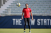 Cary, NC - Saturday October 21, 2017: Christen Press during a United States (USA) Women's National Team training session at Sahlen's Stadium at WakeMed Soccer Park.