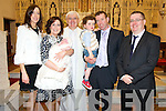 Baby Katie Foley, Reen House, Killorglin pictured with her parents Susan and Seamus, brother Charlie, godparents Triona Foley and Paul Murphy and Fr Liam O'Brien after her christening celebrations in St James church, Killorglin on Sunday.  ............................................Christy O'Mahony, captain Beaufort Golf club and Irene McCarthy, Lady Captain Beaufort Golf Club pictured with James Lucey and Sheila McCarthy, who were the winners in their Captain Prize Competition at the course on Sunday. Also pictured are Frank Coffey, President, Sean Coffey, vice captain, Teresa Clifford, Margaret Guerin, Josephine O'Shea, Gretta Hurley, Renee Clifford, Peggy O'Riordan, Maureen Rooney, Mary Barrett, Robin Suter, Gearoid Keating, Jim Hurley, Gabhan O'Loughlin, Rory Browne, Mike Quirke, Matt Templeman and Simon Rainsford...Picture: Ger Cronin LMPA (087) 0522010....PR SHOT..NO REPRODUCTION FEE.............................................................................................................................................................................................................................................