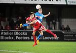 2015-10-31 / Voetbal / seizoen 2015-2016 / Hoogstraten VV - Tempo Overijse / Michiel Meynendonckx (l. Hoogstraten) met Ronald Loenders<br /><br />Foto: Mpics.be