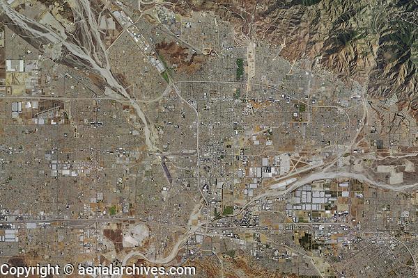 aerial photo map of City of San Bernadino, San Bernadino County, California, 2014