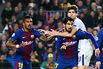 UEFA Champions League 2017/2018.<br /> Round of 16 2nd leg.<br /> FC Barcelona vs Chelsea FC: 3-0.<br /> Paulinho, Andre Gomes &amp; Marcos Alonso.