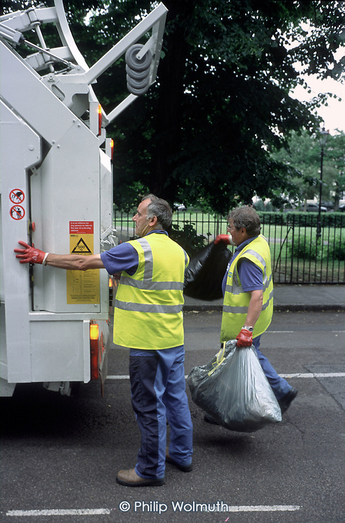 Tower Hamlets refuse collection by private contractor, Bow.