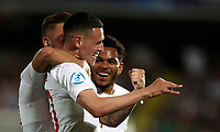 Football: Uefa under 21 Championship 2019, England - France, Dino Manuzzi stadium Cesena Italy on June18, 2019.<br /> England's Phil Foden (c) celebrates after scoring with his teammate James Maddison (l) and Jay DaSilva (r) during the Uefa under 21 Championship 2019 football match between England and France at Dino Manuzzi stadium in Cesena, Italy on June18, 2019.<br /> UPDATE IMAGES PRESS/Isabella Bonotto