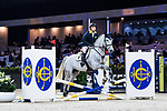 Nathaniel Chan of Hong Kong riding Lay Your Love On Z competes in the JETS Challenge during the Longines Masters of Hong Kong at AsiaWorld-Expo on 10 February 2018, in Hong Kong, Hong Kong. Photo by Diego Gonzalez / Power Sport Images