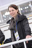 SPEEDSKATING: SOCHI: Adler Arena, 20-03-2013, Training, Paulien van Deutekom (analist NOS tv), © Martin de Jong