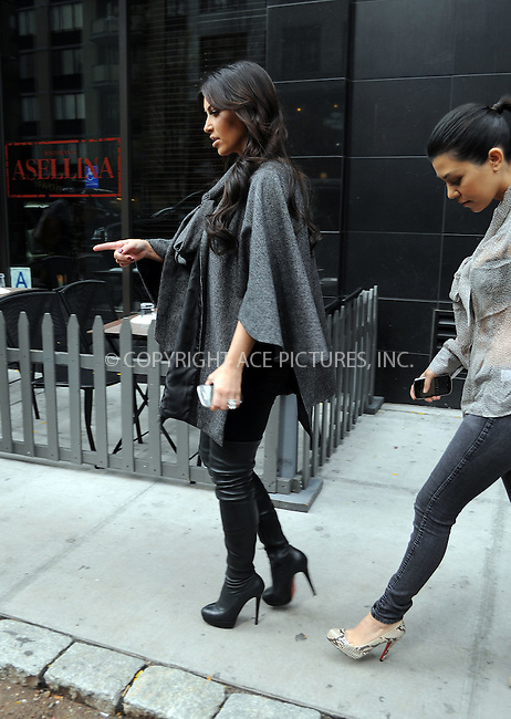 WWW.ACEPIXS.COM . . . . .  ....October 20 2011, New York City....Kim and Kourtney Kardashian leaving their midtown hotel on October 20 2011 in New York City....Please byline: CURTIS MEANS - ACE PICTURES.... *** ***..Ace Pictures, Inc:  ..Philip Vaughan (212) 243-8787 or (646) 679 0430..e-mail: info@acepixs.com..web: http://www.acepixs.com