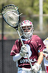 Orange, CA 05/01/10 - Thomas Holman (LMU # 3) in action during the LMU-Chapman MCLA SLC semi-final game in Wilson Field at Chapman University.  Chapman advanced to the final by defeating LMU 19-10.