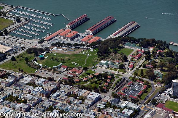 aerial photograph Fort Mason residential neighborhood San Francisco California