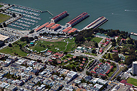 aerial photograph Fort Mason residential neighborhood San Francisco California