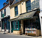 Secondhand and antiquarian book shop in the town of Holt, north Norfolk, England