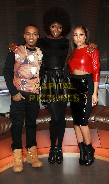 NEW YORK, NY - MARCH 3: Bow Wow (Shad Gregory Moss), Naomi Campbell &amp; Keshia Chante at BET's 106 and Park promoting the second season of The Face in New York City on March 3, 2014 . <br /> CAP/MPI/RW<br /> &copy;RW/ MediaPunch/Capital Pictures