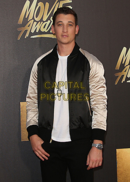 09 April 2016 - Burbank, California - Miles Teller. 2016 MTV Movie Awards held at Warner Bros. Studios. <br /> CAP/ADM/SAM<br /> &copy;SAM/ADM/Capital Pictures
