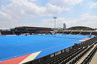 Lee Valley hockey and tennis centre with the Copperbox in the background during the Hockey World League Semi-Final match between Pakistan and India at the Olympic Park, London, England on 18 June 2017. Photo by Steve McCarthy.